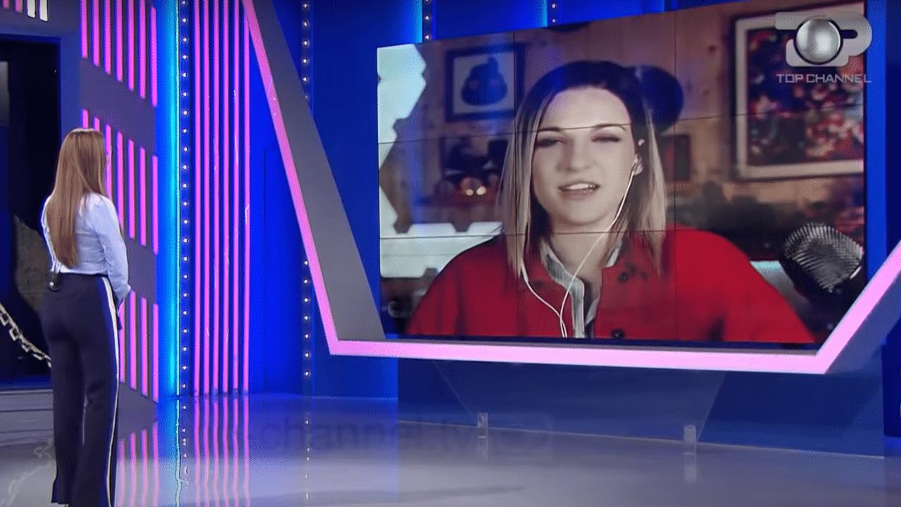 Fjona Cakalli intervistata a top channel